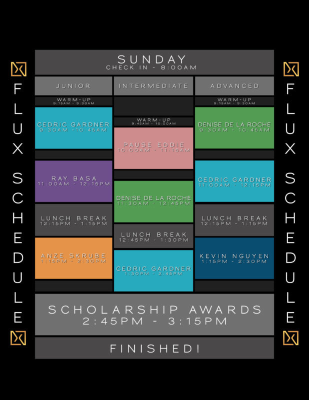 flux dance convention schedule sunday